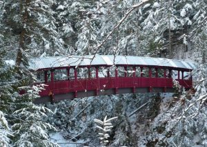 Covered pedestrian bridge in Kaslo, BC - Rapid-Span