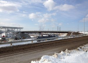 Vehicle bridge across Kinder Morgan rail terminal in Edmonton - Rapid-Span