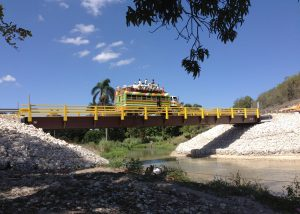 Rapid-Span Structures donated the design, supply, fabrication and installation of this bridge construction project in Haiti