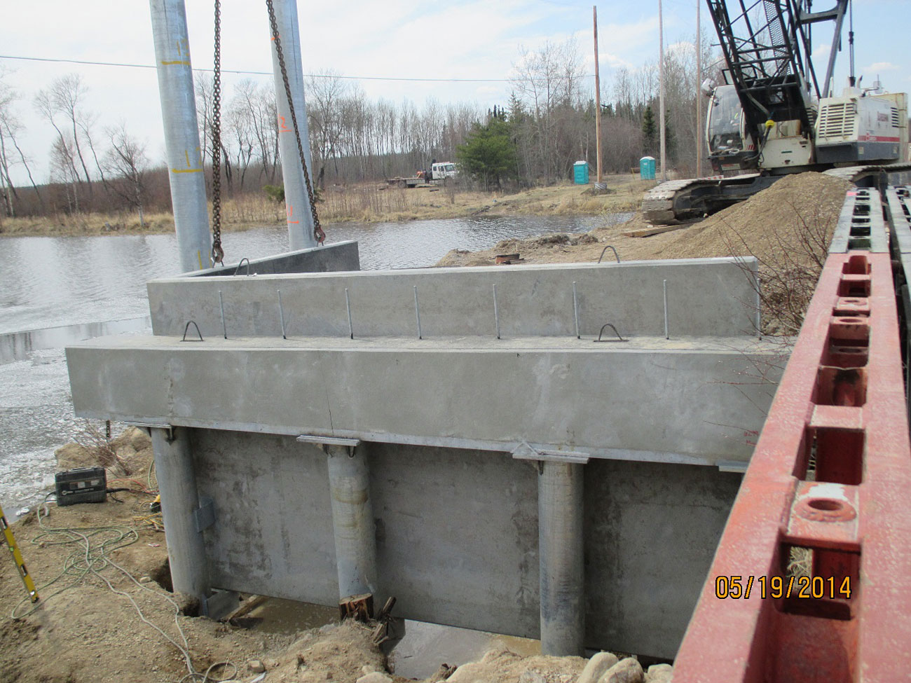 Precast concrete for bridge construction