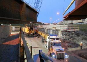 Fabrication and erection of structural steel for municipal bridge in Edmonton - Rapid-Span