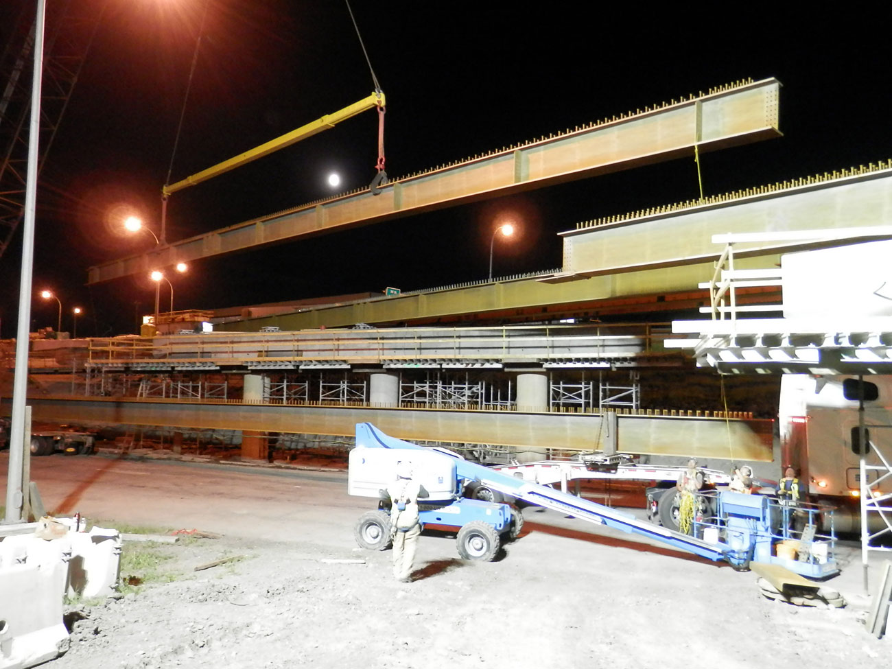 Steel fabrication for bridge build and construction