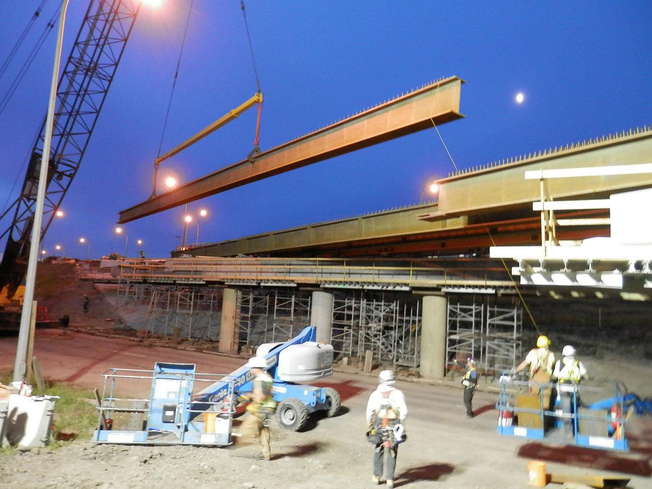 Municipal bridge construction