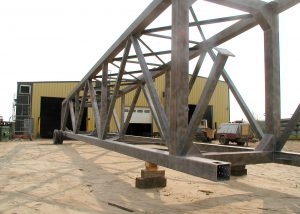 Steel fabrication for pipeline bridge - Rapid-Span