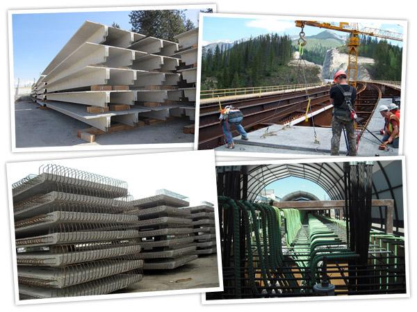 Precast concrete bridge components and other custom precast concrete products