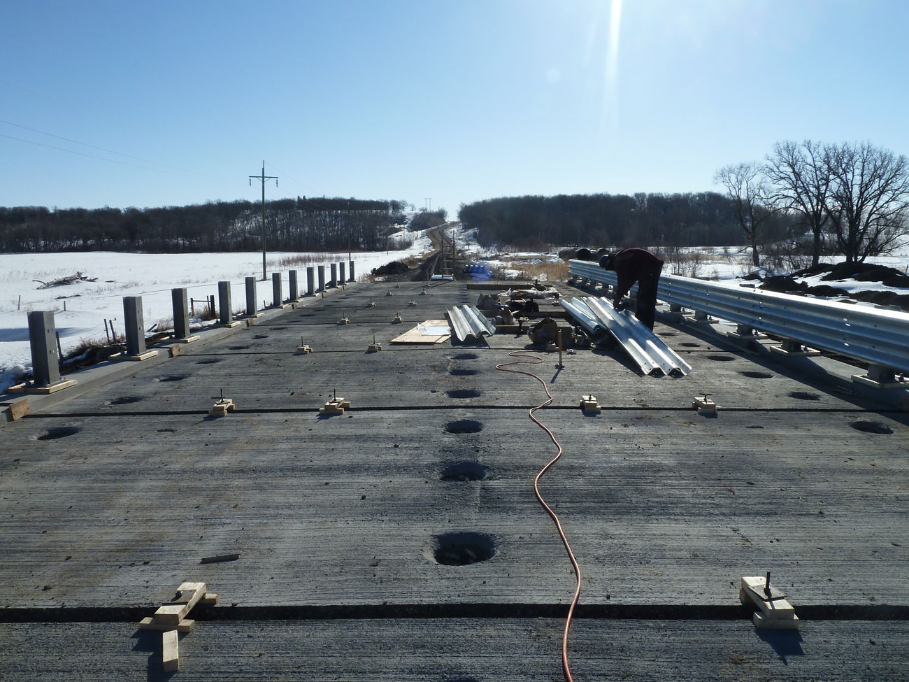 Precast concrete deck panels for municipal bridge construction - Rapid-Span