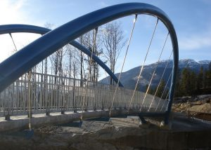 Footbridge construction by Rapid-Span near Squamish BC