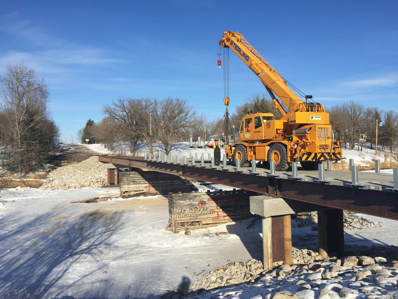 bridge build across whitemouth river manitoba